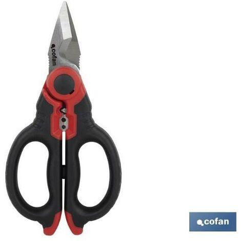 PLIMPO tijeras electricista profesional 160mm (pelacables/crimpar)
