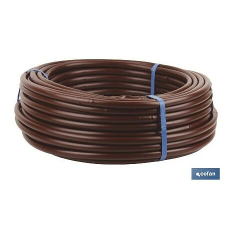 PLIMPO tubo 100m riego goteo marron (gotero a 0,33m) ø16mm