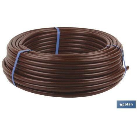 PLIMPO tubo 100m riego goteo marron (sin goteros) ø16mm