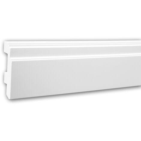 Plinthe 153101F Profhome Moulure décorative flexible design moderne blanc 2 m