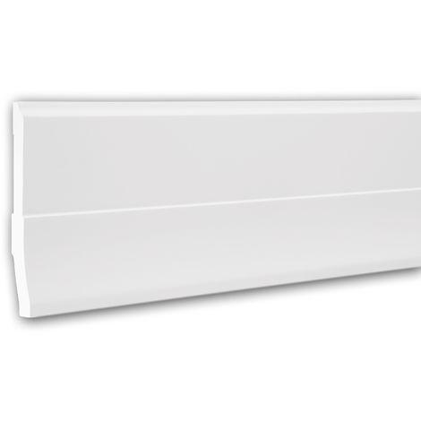 Plinthe 153105 Profhome Moulure décorative design moderne blanc 2 m