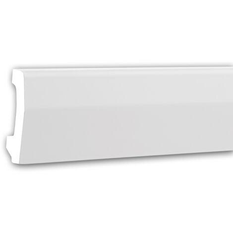 Plinthe 153106F Profhome Moulure décorative flexible design moderne blanc 2 m