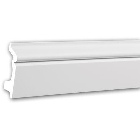 Plinthe 153107F Profhome Moulure décorative flexible design intemporel classique blanc 2 m