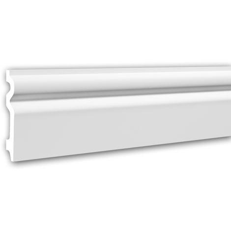 Plinthe 153109 Profhome Moulure décorative design intemporel classique blanc 2 m
