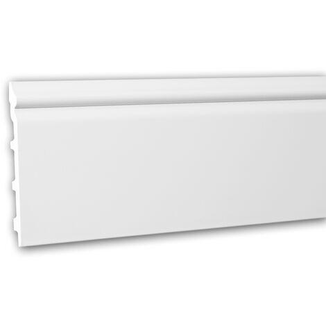 Plinthe 153110F Profhome Moulure décorative flexible style Néo-Classicisme blanc 2 m