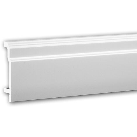 Plinthe 653101 Profhome Moulure décorative design moderne blanc 2 m