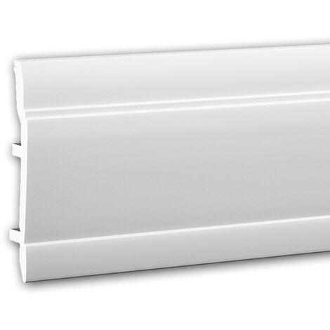 Plinthe 653102 Profhome Moulure décorative style Néo-Classicisme blanc 2 m