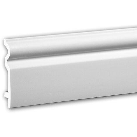Plinthe 653109 Profhome Moulure décorative design intemporel classique blanc 2 m