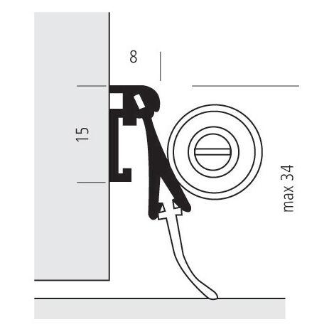 Plinthe aluminium pivotante - Bas de porte - Port-O-Mat - Ellen