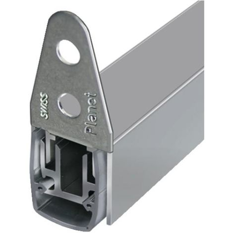 Plinthe automatique pour menuiserie métallique aluminium ou acier type MF RD coupe-fumée en longueur de 835 mm