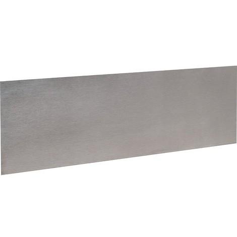 Plinthe de bas de porte Plate Inox satiné - Duval