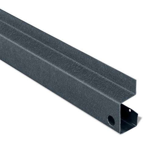 Plinthe de finition Gris 7016 mat texturé pour clin BAHYA®