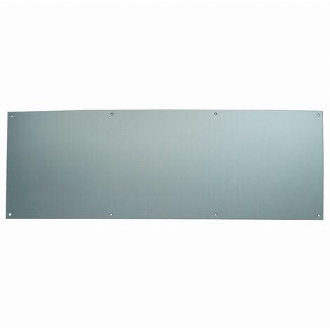 Plinthe de protection percée et fraisée DUVAL bas de porte - Alu argent 830 x 250 mm - 11-0102-1220