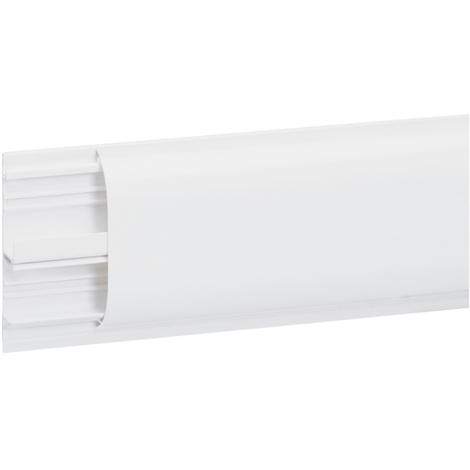 Plinthe DLPlus 80x20 - 2 compartiments - 1 couvercle - L. 2 m - blanc