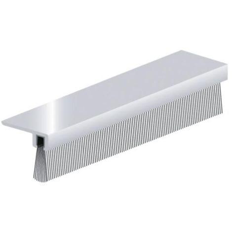 Plinthe en applique à brosse 32 mm à 90° de dessous de porte type IBS - B