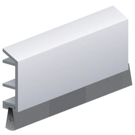 Plinthe en applique à brosse spéciale baie coulissantes type PDS – B coloris blanc