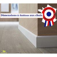 Plinthe en médium prépeinte blanche de très grande qualité – fabrication FRANCAISE – différentes dimensions et finitions