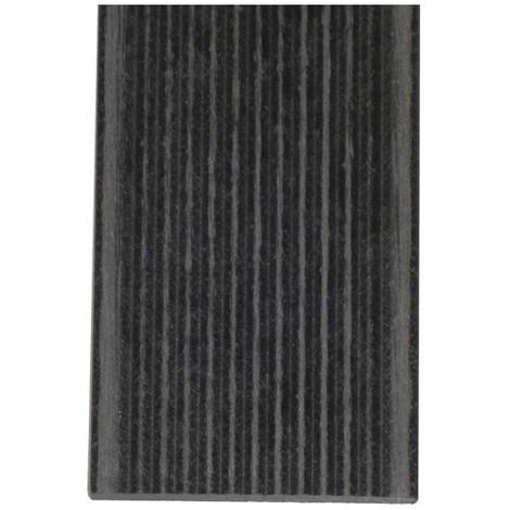 Plinthe finition terrasse bois composite - Coloris - Gris anthracite, Epaisseur - 1cm, Largeur - 5.5 cm, Longueur - 200 cm, Surface couverte en m² - 4