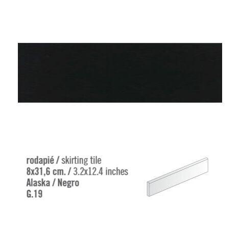 Plinthe intérieur Noir mat Negro 8x31.6 cm - 10.11mL