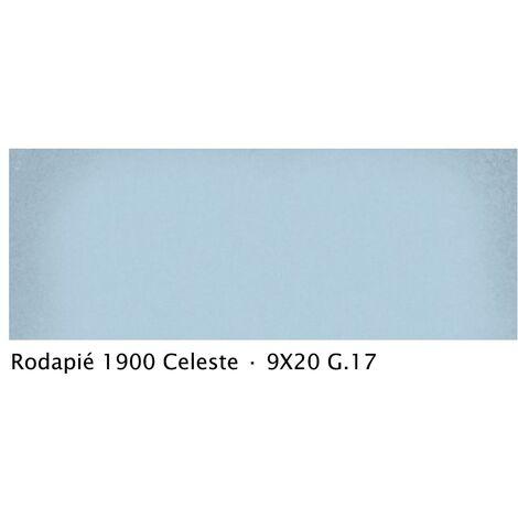 Plinthe intérieur vieillie 1900 9x20 cm BLEU CELESTE - 2mL