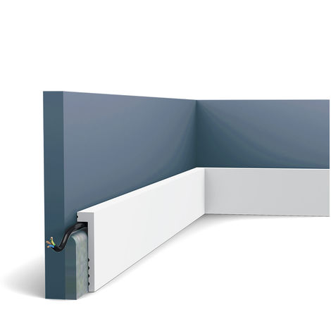 """main image of """"Plinthe Orac Decor SX171 AXXENT Moulure décorative Surplinthe design moderne blanc"""""""