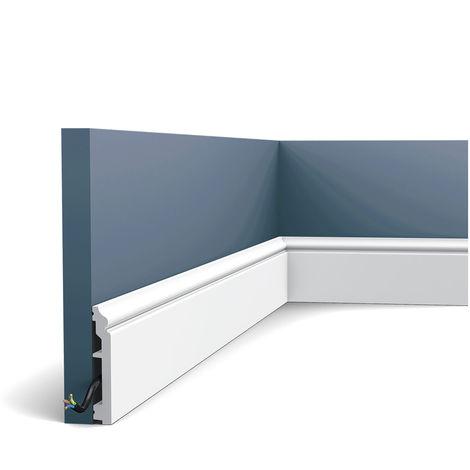 Plinthe Orac Decor SX173F AXXENT CONTOUR Plinthe Moulure flexible Moulure décorative design intemporel classique blanc 2m