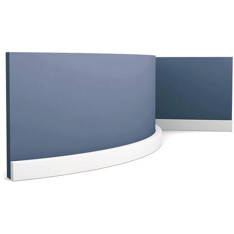 Plinthe Orac Decor SX194F AXXENT SQUARE Moulure décorative design moderne blanc 2 m