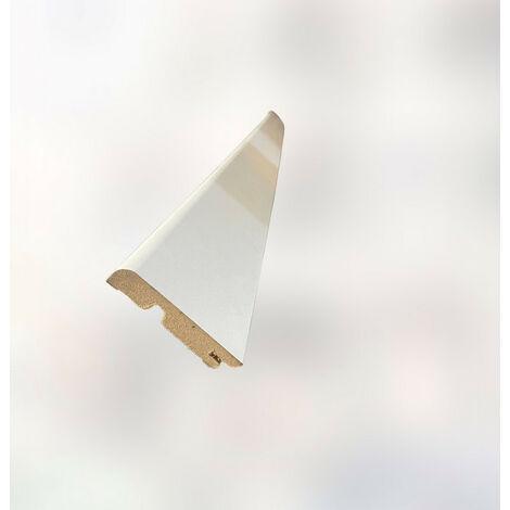 Plinthe plaquée blanche arrondie 15x80x2400mm