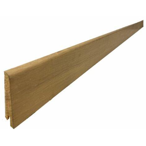 Plinthe Plaquée chêne huilé aspect bois brut 15x80x2400mm