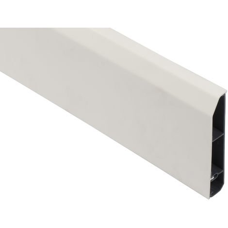 Plinthe pour passage de câble Blanc en PVC, 110 mm x 20mm 2m