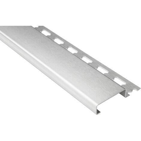 plinthe profilée 10mm   rails en acier inoxydable - argent brossé   pack économique ES