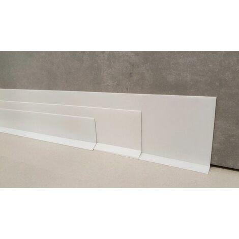 Plinthe souple autoadhésive en PVC Colle sèche professionnelle haute qualité de MadeInNature hauteur 50 mm, 70 mm ou 100 mm - Blanc - 70 mm - 40 mètres. - Blanc