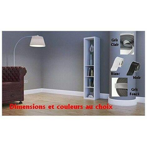 Plinthe souple flexible en PVC / qualité MadeInNature®/ Blanc, Gris clair, Gris foncé, Noir, / Longueur et hauteur au choix - Gris foncé - 60 mm - 5 mètres. - Gris foncé