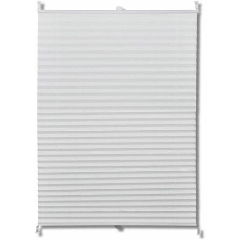 Plisse Blind 100x200cm White Pleated Blind QAH08298