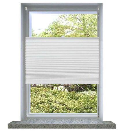 Plisse Blind 110x200cm White Pleated Blind VD08302
