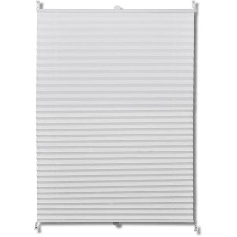 "main image of ""Plisse Blind 110x100cm White Pleated Blind - White"""