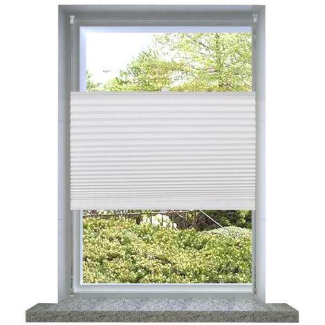 Plisse Blind 60x125cm White Pleated Blind VD08280
