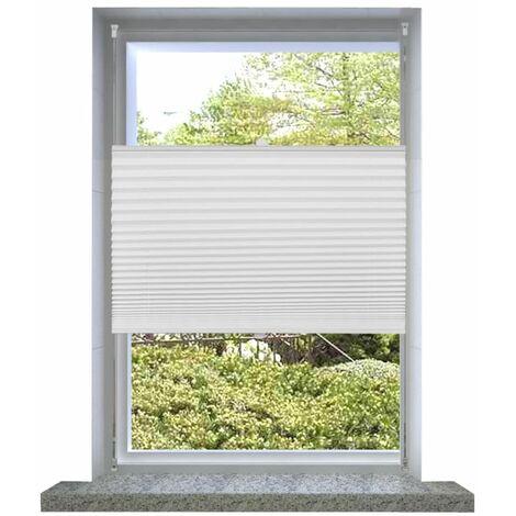 Plisse Blind 60x125cm White Pleated Blind VDTD08280