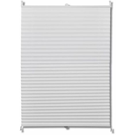 Plisse Blind 80x100cm White Pleated Blind QAH08287