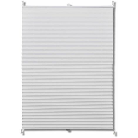 Plisse Blind 80x125cm White Pleated Blind QAH08288