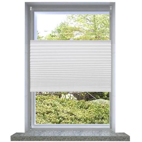 Plisse Blind 80x125cm White Pleated Blind - White