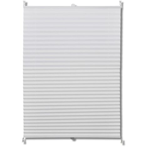 """main image of """"Plisse Blind White Pleated Blind Different Sizes Selectable Easy Installation"""""""