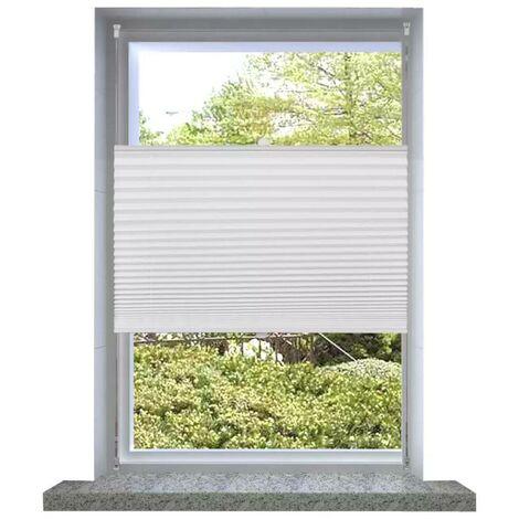 Plisse Blind 90x150cm White Pleated Blind VD08293