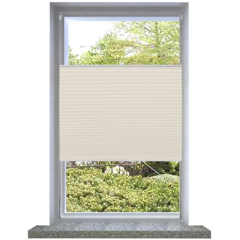 """main image of """"vidaXL Plisse Blind Cream Office Home Window Pleated Blackout Roller Blind Daynight Sunscreen Sunshade Plisse Shade Curtain Cover Multi Sizes"""""""
