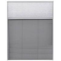 Plisse Insektenschutzfenster mit Jalousie Aluminium 160×110 cm