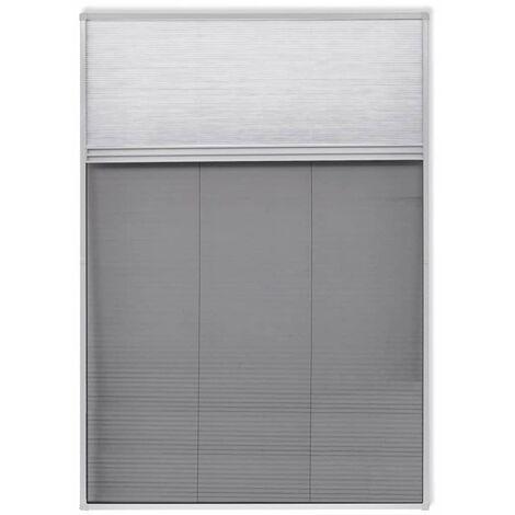 Plisse Insektenschutzfenster mit Jalousie Aluminium 160×80 cm