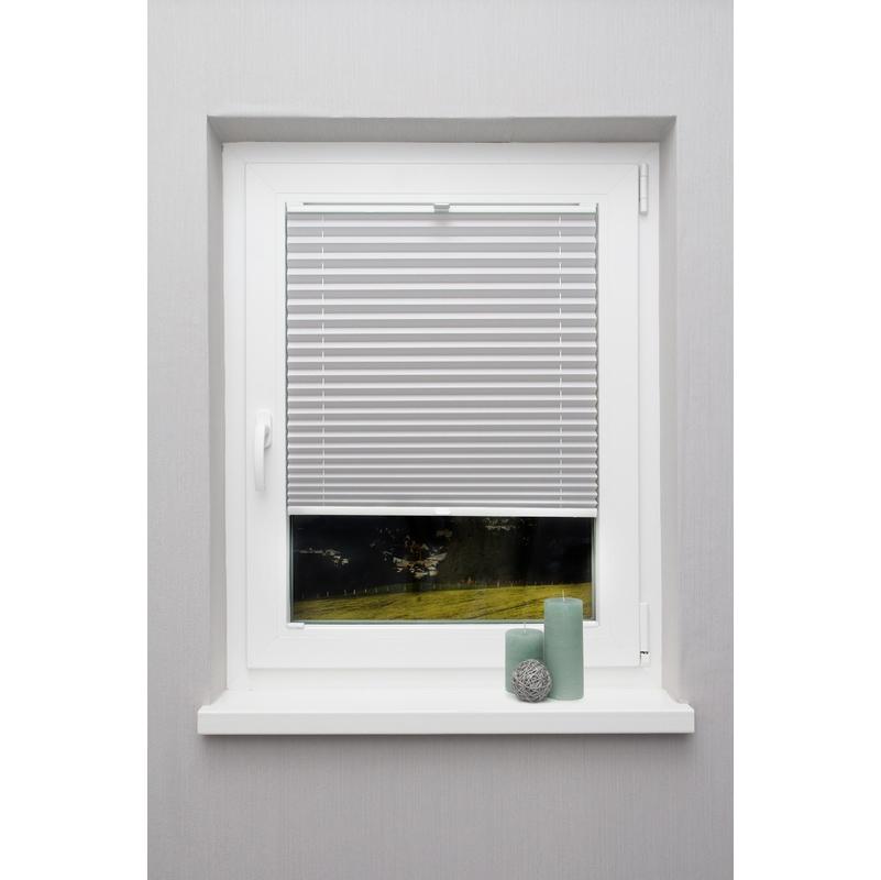 Häufig Plissee auf Maß Grau hell für alle Fenster Montage in der LW58