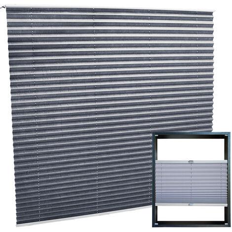 Plissee grau 100x100cm Plisseerollo als modischer Sichtschutz Faltrollo