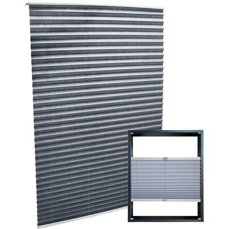 Plissee grau 45x150cm Plisseerollo als modischer Sichtschutz Faltrollo
