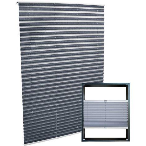 Plissee grau 60x150cm Plisseerollo als modischer Sichtschutz Faltrollo